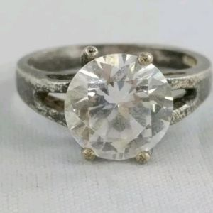 CA signed Solid sterling silver Engagement ring
